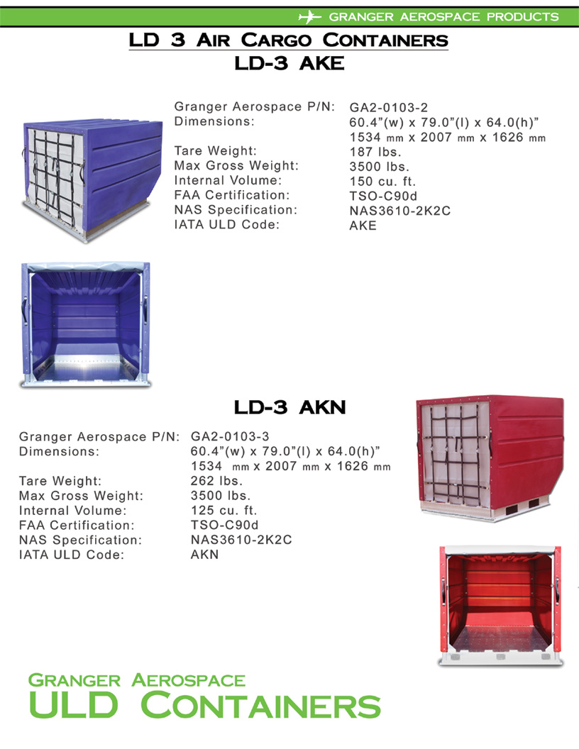LD 3 Specifications, Dimensions, LD 3 Air Cargo Container Dimensions, AKN Dimensions, AKN dimensions
